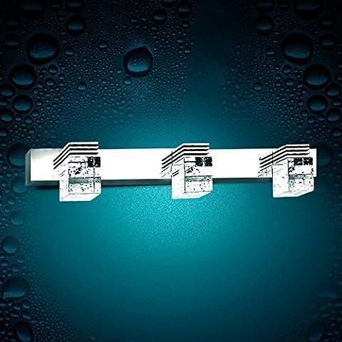 TYDXSD Semplice moda specchio luci led bagno bagno specchio umidità luce nebbia-luce in acciaio inox specchio mobile Applique in cristallo , 2 head