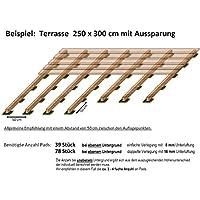 24 Abstandshalter Unterleger Terrassendielen 10 mm Terrassenpads 90 x 90 mm w/ählbar von 24-96 St/ück