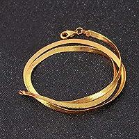 Taohou Collar de Cobre de Hueso de Serpiente Brillante Joyas Mujer Colgante de Cadena Collar de eslabones