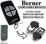 BERNER BHS110/BHS121/BHS130/BHS 140/BHS153/BHS211 Garagentor Sender Ersatz - 4 Kanal Kompatibel Handsender Ersatz 868 mhz Universal