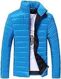 Btruely Herren_camisetas Dorame Los Hombres Cálido Abrigo Cuello Alto Slim Zip Chaqueta de Invierno Outwear Jacket