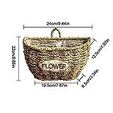 Blumenkorb Stroh Hängekorb Handgefertigt Hängend Pflanzenkorb