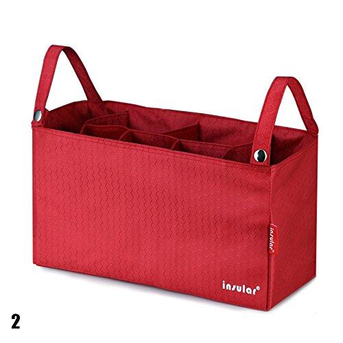 calistous Mummy Tasche Baby am Kinderwagen Aufhängen Innen Organizer Tasche Windel Schutzbezug Tasche grün rot