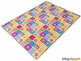 Teppich Kinderteppich Blumen Schmetterling Teppich Patchwork 133 x 180 cm
