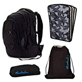 satch Pack Black Bounce 4-teiliges Set Rucksack, Penbox, Sportbeutel & Triple Flex schwarz