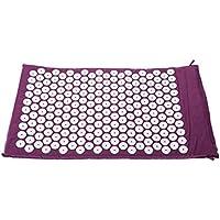 SODIAL Estera alfombra para acupresion acupuntura yoga masaje + bolsa de llevar Purpura
