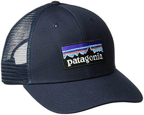 Patagonia P-6 Logo Trucker Cap, W/Navy Blue, One Size Navy Blue Cap
