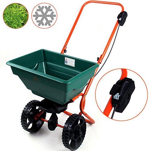 Streuwagen ✔ Modellauswahl ✔ 25L ✔ Streubreite einstellbar ✔ praktische Abstellfüße - Saatgutstreuer Düngerstreuer für Salz Dünger Rasen Split Saatgut