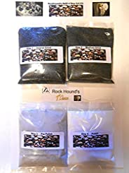 Rockhound's 1st Choice Rock Tumbler Refill Grit Kit polishes up to 1.4kg of Rocks-Use in Thumlers,Lortone,