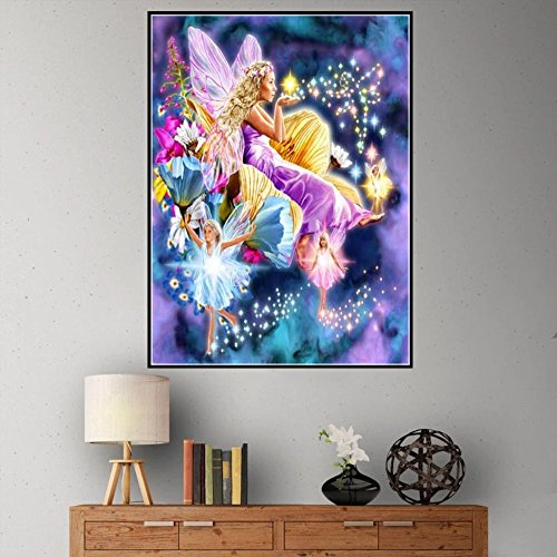 Jkhhi Fee Garten Diamond Diamonds Painting 5D DIY Diamant Stickerei Malerei Mosaikherstellung Kunst Kreuzstich für Wanddekoration -