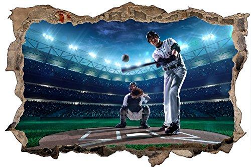 Baseball Sport Wandtattoo Wandsticker Wandaufkleber D0610 Größe 70 cm x 110 cm Baseball-stein