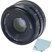 Meike mk-e-35–1.735mm F1.7grande Multi Coated lente de enfoque manual de la apertura APS-C para Sony NEX3NEX5nex6, NEX7, A5000A5100A6000A6100A6300+ Mcoplus paño de limpieza