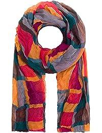 style3 Moderner grafisch-gemusterter Crinkle-Schal in verschiedenen Farben