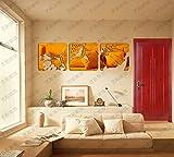 JWQT Wandtattoos Abstrakte Kunst, dreidimensionaler Spiegel, dekoratives Acrylbild, Wohnzimmer, Arbeitszimmer, Sofa, Fernseher, Hintergrundwand, Wandaufkleber, Goldener Spiegel (verdickt 1,5-2 mm),