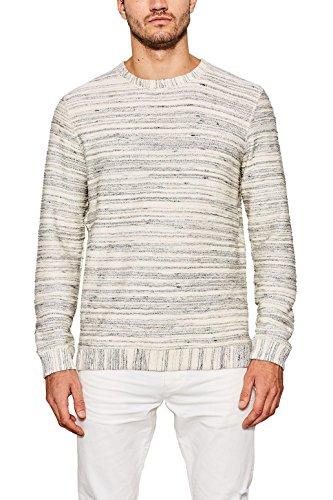 ESPRIT Herren 087EE2J006 Sweatshirt, Weiß (Off White 110), Large