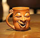 #10: Weird Wolf Joy Hand-crafted Coffee Mug (350 ml) for gifting - Red Brown