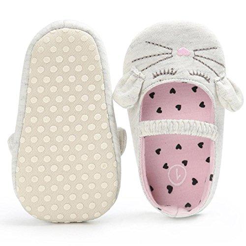 Kinder Krippe Weiche Säugling Baby Jungen Katze Schuhe Kleinkind Muster Mädchen 1paar Weiß Neugeborene Igemy RSA4pZR