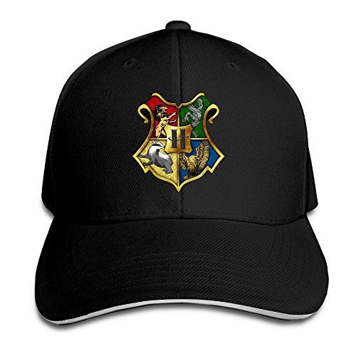 a821a304b1eec Hittings Harry Potter Hogwarts Crest Supermade Unisex Peaked Baseball Cap  Snapback Hats Black