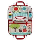Teepao Organiseur pour siège arrière de voiture pour enfant et bébé, motif dessin animé, idéal pour le voyage, le rangement des jouets et la protection du siège