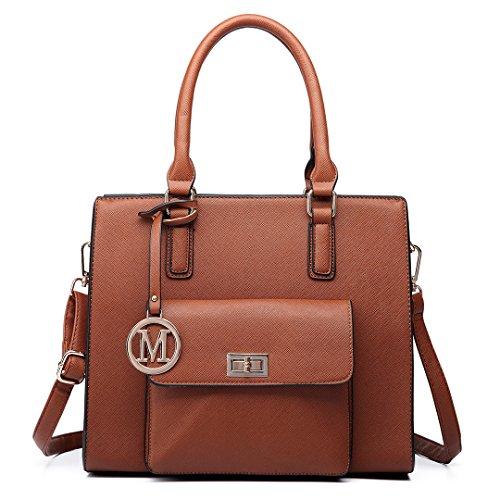 Miss Lulu , Sac pour femme à porter à l'épaule 6635 Brown