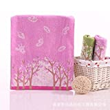 XXIN Baumwoll Jacquard Handtuch/Baumwolle Jacquard Handtuch/Handtuch Gesicht/Pink/ 34 * 74