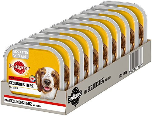 Pedigree Extra Vital Hundefutter Pro Gesundes Herz, 10 Schalen (10 x 300 g)
