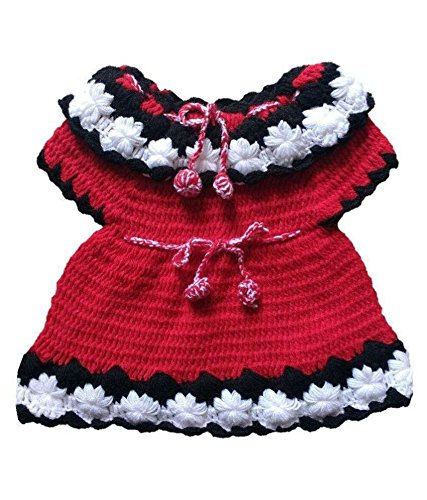 PMG Woolen Frock Sweater for 6-12 month baby girl Color Red