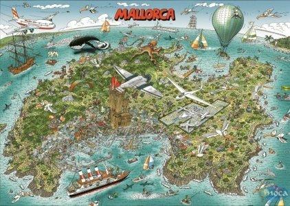 Puzzle Mallorca 120 Teile im Stoffbeutel Bild von Bernd Natke