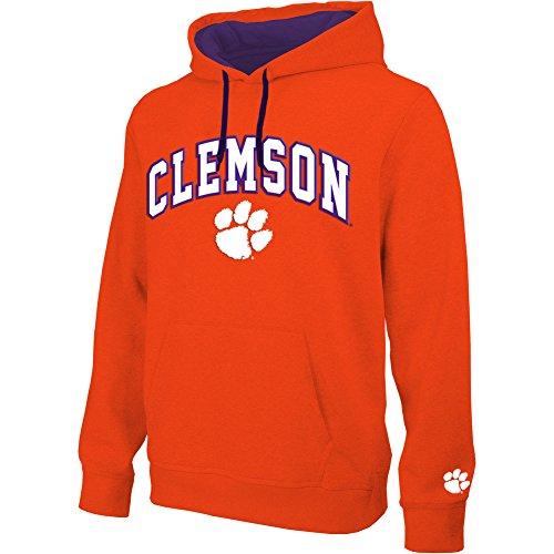 eLITe NCAA Herren Kapuzen-Sweatshirt, Teamapplikation, Bogen, Herren, Hoodie Sweatshirt Team Applique Arch, Clemson Tigers Orange, XX-Large