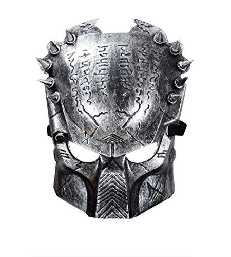 Kostüm Wolf Krieger - OENKIKIN Halloween-Faschingspartys Halloween Kostüme und Masquerade Cosplay Design Gezackte Krieger Maske Lone Wolf Halloween Horror Maske Schutzmaske