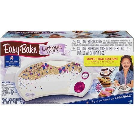 easy-bake-ultimate-oven-baking-star-super-treat-edition-with-3-mixes-for-ages-8-and-up-by-hasbro