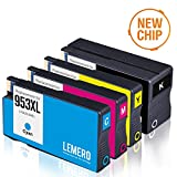 4 LEMERO Kompatibel 953XL 953 XL Druckerpatronen für HP OfficeJet Pro 8210 8218 8710 8715 8718 8719 8720 8725 8728 8730 8740 7740 wf All-in-One Drucker, Schwarz Cyan Magenta Gelb