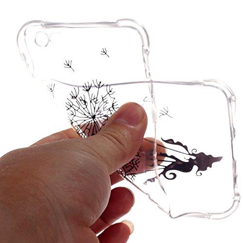 Btduck Impression Couleur Coque Pour Apple iPhone 6 6S 4.7 Pouces Protection Empêche l'écran d'être brisé Propre et transparente Silicone doux en plastique Produit extérieur Case Anti-vibrations Cover Pissenlit bronzant