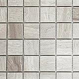 Mosaik Fliese Marmor Naturstein grau Grau Streifen für BODEN WAND BAD WC DUSCHE KÜCHE FLIESENSPIEGEL THEKENVERKLEIDUNG BADEWANNENVERKLEIDUNG Mosaikmatte Mosaikplatte