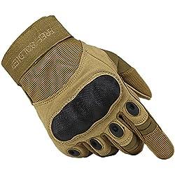 Free Soldier Outdoor – Guantes tácticos para hombre, transpirables y resistentes al desgaste, otoño/invierno primavera/verano, hombre, color Sand-Farbe, tamaño large