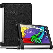 Funda Lenovo Yoga Tablet 2 8 - Fintie Folio Slim Smart Case Fund Carcasa con Stand Función y Auto-Sueño / Estela para Lenovo Yoga 2 8 8.0 pulgadas Tablet, Negro