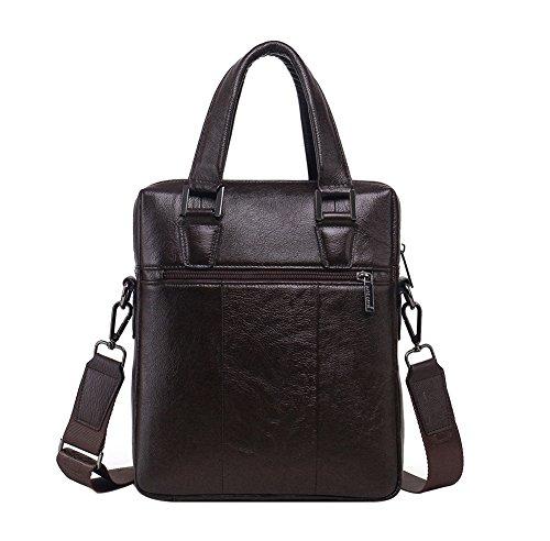 Genda 2Archer Leder Büro Handtasche Business Tote Tasche für Männer (Kaffee) Kaffee