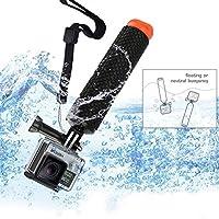 micros2u POV buceo boya flotante/bastón mango de corcho de flotabilidad ajustable mano agarre para GoPro Hero 2, 3, 3+, 4, SJCAM, color negro