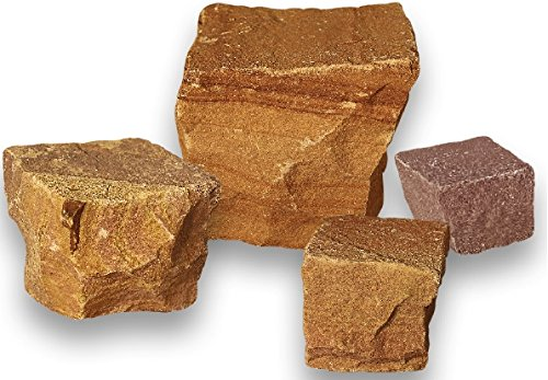 Sandstein Pflaster - Nevada Colored 6x6x4/6 cm 1000 kg - Natursteinpflaster für individuelle Weggestaltung für den Garten