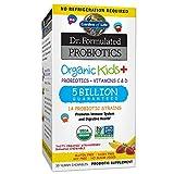Garden of Life - Organic Kids + Dr. Formulated Probiotics with Vitamins C & D Shelf Stable Strawberry Banana 5 Billion CFU - 30 Chewables