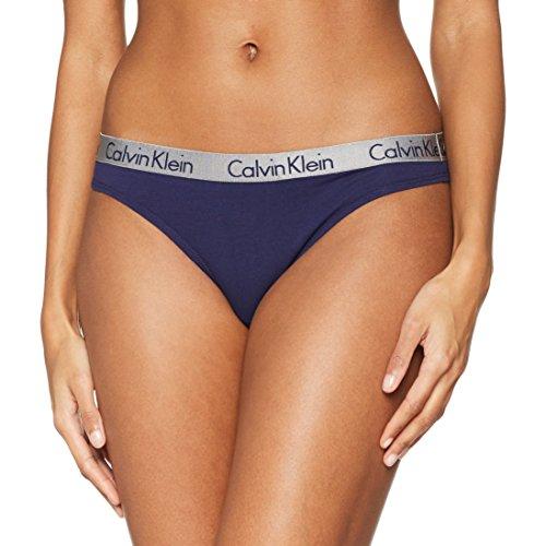 Calvin Klein Damen String Thong, Blau (Sirena Strong Sx1), 8 (Herstellergröße: Small) (Tangas Baumwolle Calvin)