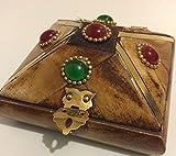 Boite a bijoux 9x9cm artisanat du maroc