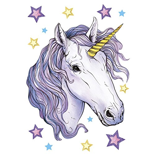 Color Iron-On Transfers, DIN A4, Unicorn: Moonlight | Fabric Motifs  Decorate | Pictures Quick & Easy Iron On DIY Fabric Design Like T-Shirts &  Bags