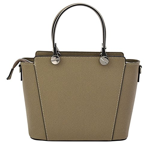 ADRIANA Top-Handle Bag Tote Handbags Women's Genuine Leather Made in Italy Handcraft-lightbrown