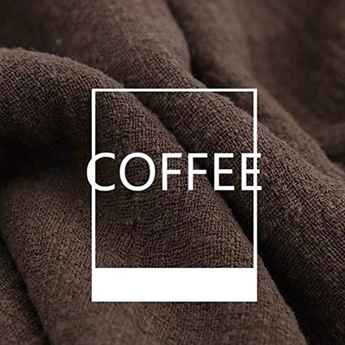 FADDR Leinenstoffe, 130x100cm Stoff Meterware zum Nähen, blickdichter Naturstoff für Bekleidung, Gewänder, Vorhänge und Deko(Kaffee) -