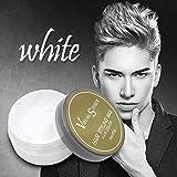 Hair Wax, SOMESUN Capelli di cera dei capelli Donne Capelli di nonna Capelli di frassino Fango grigio Temporaneo 80g (White)