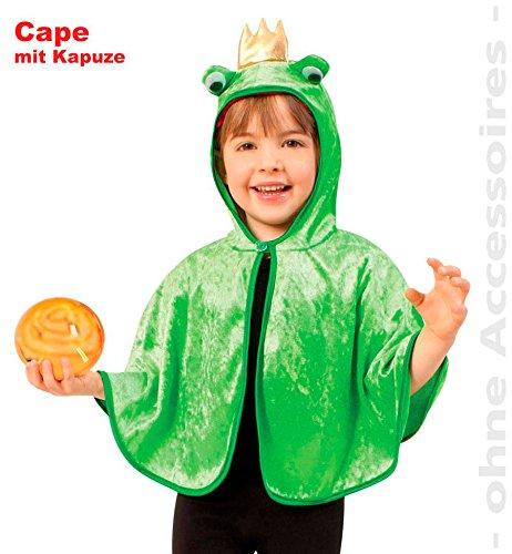 Fries Cape Froschkönig Frosch Umhang Kleinkinder Kostüm Fasching Karneval: Größe: 98