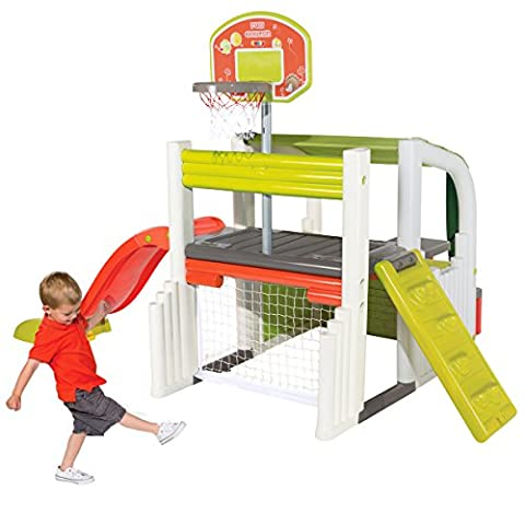 Smoby Children Kids Outdoor Sports Multi-Activity Fun Centre Play Set With Slide & Picnic Table Includes FREE BALL