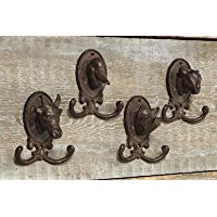 Wall Coat Hooks Set of 4 Animal Motifs