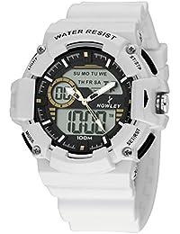 Reloj Nowley Hombre 8-6188-0-1 Analogico Digital Blanco